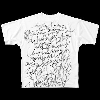 hugging love +《ハギング ラブ プラス》のhashirigaki Full graphic T-shirts