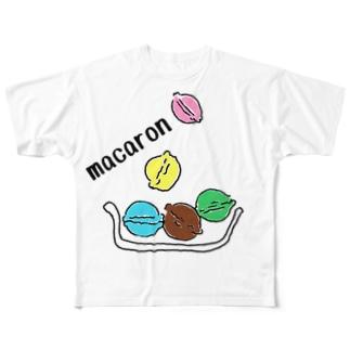 マカロン Full graphic T-shirts