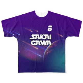 【販売済み】境川フリー/8番 Full graphic T-shirts