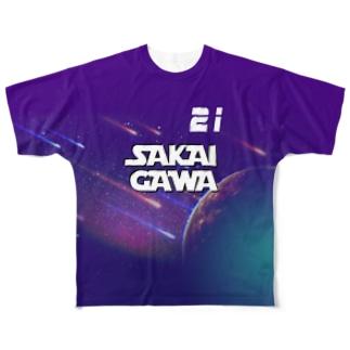【販売済み】境川フリー/21番 Full graphic T-shirts