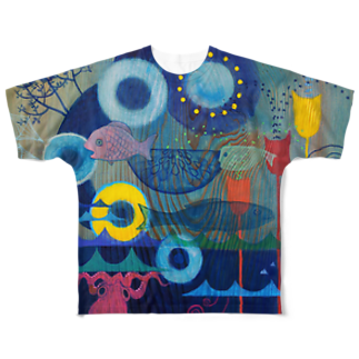 さとう瑠璃 Ruri Satoのさかな達の午後 Full graphic T-shirts