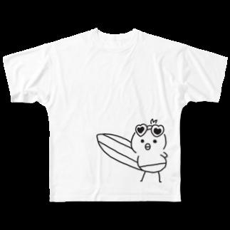 ごりうさのイケイケピヨたん Full graphic T-shirts