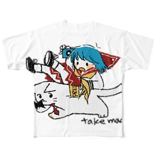 ReportorPUSSYwithGIRL Full graphic T-shirts
