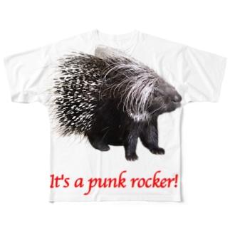 Punk ヤマアラシ Full graphic T-shirts