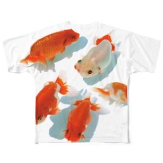 らんちゅう フルグラフィックTシャツ