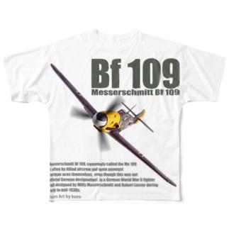 メッサーシュミット Bf109 Full graphic T-shirts