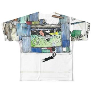 下校時刻 Full graphic T-shirts