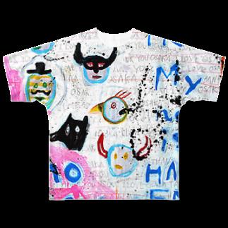 DoiMayumiのPOP ART(HAPPY END) Full graphic T-shirts