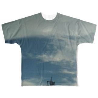 豪雨直後の空 Full graphic T-shirts