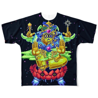 如意輪観音 Full graphic T-shirts