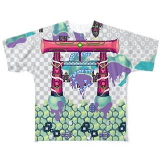 天道(裏) Full graphic T-shirts