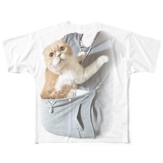 抱っこ疑似体験マルT《改》 Full graphic T-shirts