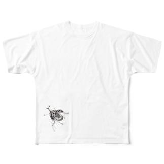ジッパーかぶとむし Full graphic T-shirts