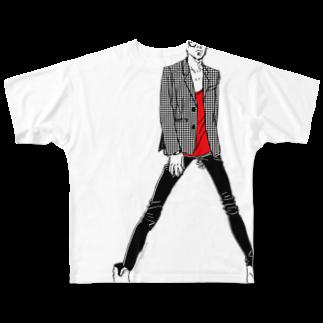 """中村香月の""""Red"""" いけめんファッショニスタ フルグラフィックTシャツ"""