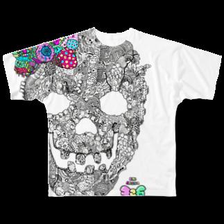 有坂愛海ショップの有坂愛海×326「グロスカルリボン」フルグラフィックTシャツ