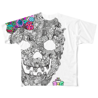 有坂愛海ショップの有坂愛海×326「グロスカルリボン」 フルグラフィックTシャツ