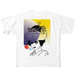 中秋の月 Full graphic T-shirts