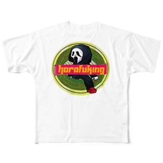ホラフキンラベル Full graphic T-shirts