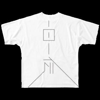 田口堂の一日一伝(縦) Full graphic T-shirts