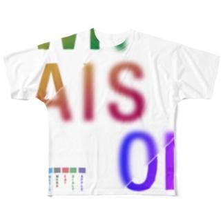 whaison gradations CMYK-RGB フルグラフィックTシャツ