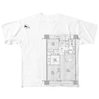 間取りズ♪ フルグラフィックTシャツ