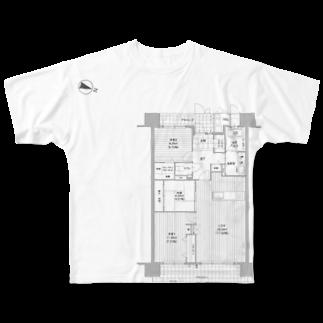 せやろがい!(office)の間取りズ♪ Full graphic T-shirts