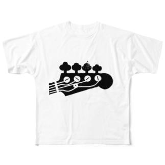 BassUfo フルグラフィックTシャツ
