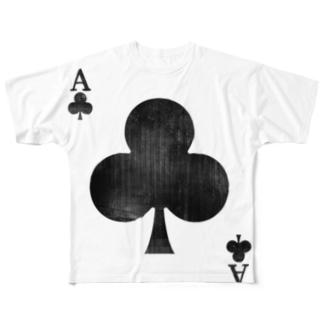 擦れクローバー Full graphic T-shirts