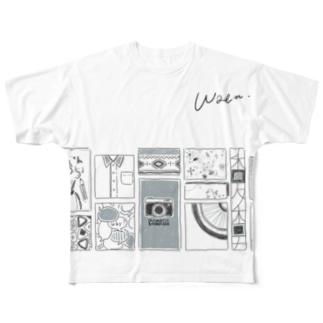 ぱねる。 フルグラフィックTシャツ