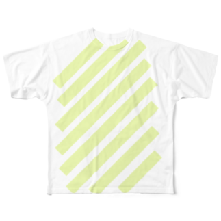 whaisonのsuzuri_fullgraphicT-template-XL_slash_lime_yellow_pale フルグラフィックTシャツ