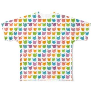 カラフルウゲロくま フルグラフィックTシャツ