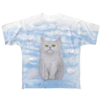 ペルシャ猫とハツカネズミ フルグラフィックTシャツ