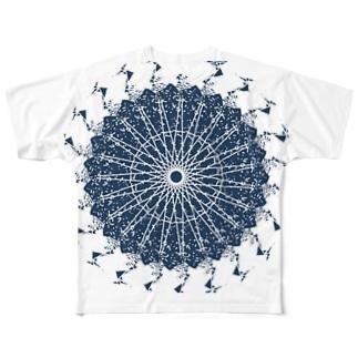 魔方陣(処女作) Full graphic T-shirts