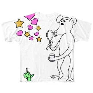サルとアリ(codycoby) フルグラフィックTシャツ