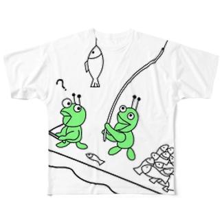 アリさんたちの釣り(codycoby) フルグラフィックTシャツ
