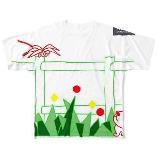 トンボさんとお外(codycoby) フルグラフィックTシャツ