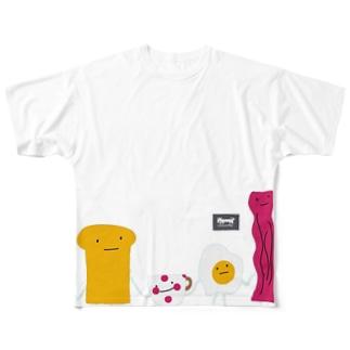 朝食チーム(codycoby) フルグラフィックTシャツ