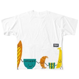 朝食チーム(洋食)(codycoby) フルグラフィックTシャツ