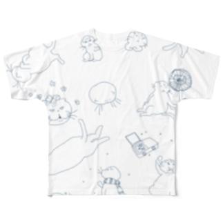 マルティ詰合せブルー Full graphic T-shirts
