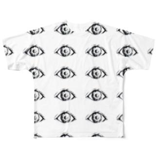 いつでも見てるよ。 Full graphic T-shirts