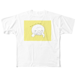 マナティー Full graphic T-shirts