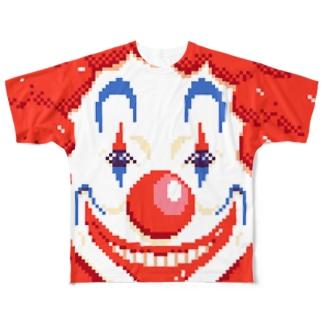 ピエロっぽい フルグラフィックTシャツ