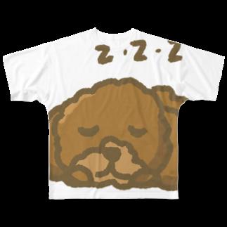 chicodeza by suzuriのトイプードルzzz Full graphic T-shirts