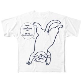 【重版記念】ボカシなし逆さマル Full graphic T-shirts