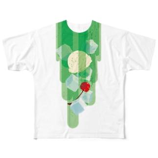 フォーリングクリームソーダ フルグラフィックTシャツ