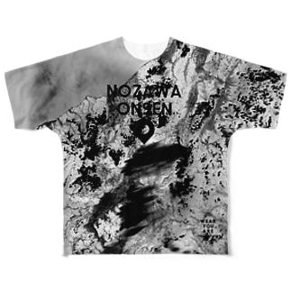 長野県 下高井郡 フルグラフィックTシャツ