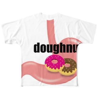 ドーナツっ腹 フルグラフィックTシャツ