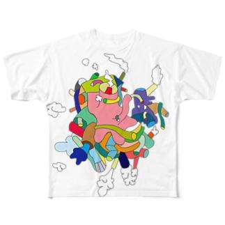 モクモクモク〜 Full graphic T-shirts
