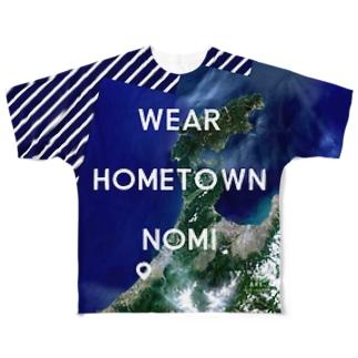 石川県 羽咋郡 Full graphic T-shirts