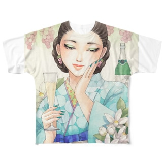 ワイン女子・甲州酵母の泡 フルグラフィックTシャツ